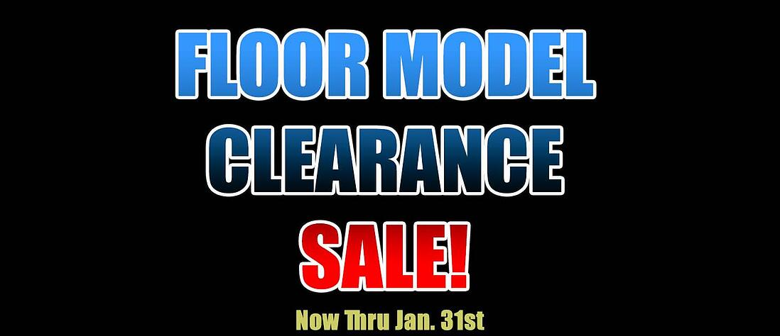 Floor Model Clearance Sale 2020 Graphic